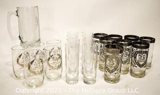 Vintage 25th Anniversary Glassware by Dorothy Thorpe