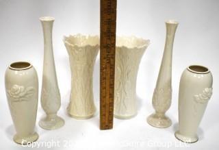 Three (3) Pairs of Porcelain Lenox Vases