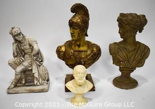 Four (4) Classical Bust Figures