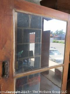 """Pine Corner Cupboard; circa 19th c; 45W x 29 1/2 sides x 23D x 77""""T"""