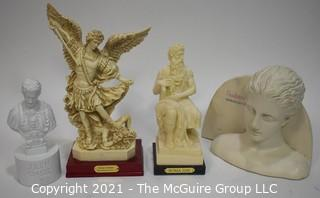 Three (3) Classical Greek and Roman Sculptures and One Sculptra Display Piece