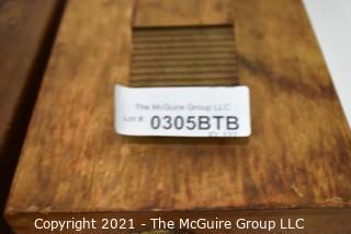 (2) Wooden Shoe Shine Valet Kits