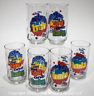 Set of (6) Pepsi Soda Promotional Glasses or Tumblers