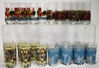 Four (4) Sets of Glass Tumblers
