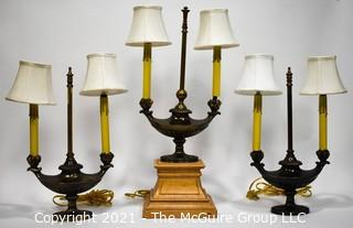 Three (3) Reproduction Table Lamps