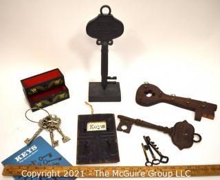 Group of Skelton Key Decorative Items