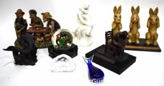 Collection of Decorative Statues and Figurines, Varioius Materials