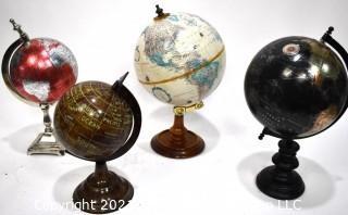 Four (4) Decorative Shelf Globes.