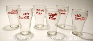 (6) Coca Cola Soda Fountain Glasses
