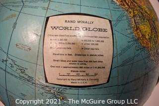 Five (5) Vintage World Globes on Stands