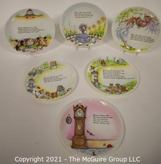 Set of (6) NIB Coalport Nursery Rhyme Collector Plates