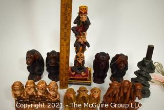 Group of Three Wise Monkeys Statues & Figurines