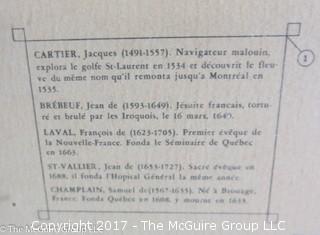 """Framed Map of Old Quebec; 29 x 36"""""""