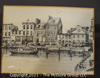 """Signed and Numbered David Michael Print of """"Fells Point"""", Baltimore, MD."""
