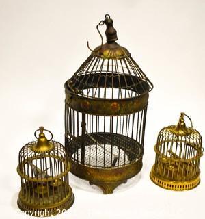 (3) Metal Birdcages