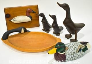 Collection of Duck Themed Decor, Tray and Decoys.
