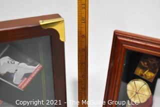 (2) Baseball Shadow Boxes for Collectibles