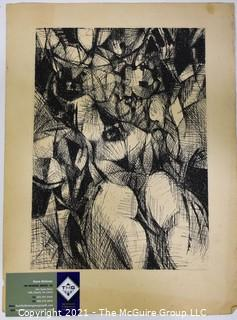Black & White Lithograph on Paper, Signed by Artist Robert Wogensky.