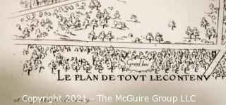 19th c French Architectural Landscape Drawing; Imp. Lemercier