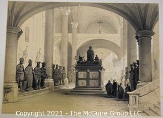 Lithograph: Tomb of Maximillian I