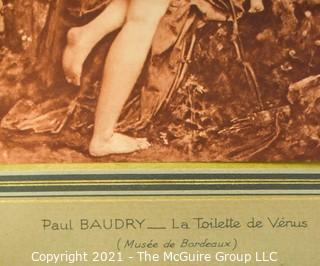 Sepia Tone Print of Paul Baudry - La Toilette De Venus.