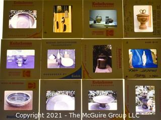 Collection of 35mm slides: 1960's California Pottery