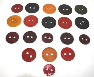 Group of Vintage Bakelite Round Two Hole Coat Buttons