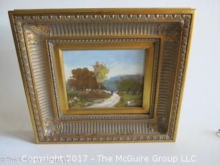 Framed original landscape painting; signed lower right; 16 x 18""