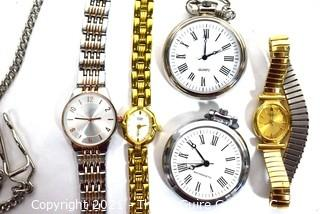 Group of Wrist Watches and Pocket Watches.  Untested.
