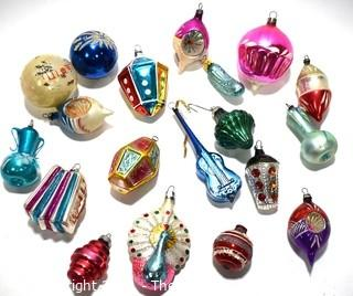 Collection of Vintage Blown Figural Glass Ornaments