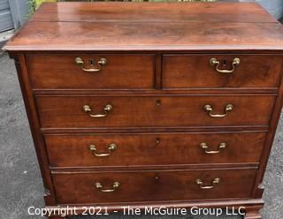 Antique 18th Century Hand Made Mahogany Georgian Chest of Drawers