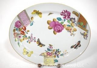 """Vintage Mottahedeh Vista Alegri Porcelain Serving Platter. Measures 16"""" x 12""""."""