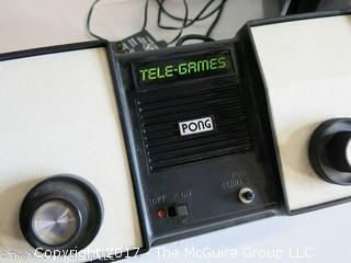 Vintage Atari PONG gaming unit and TV