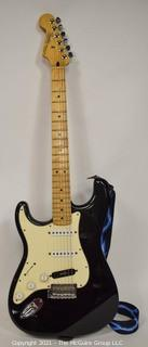 Fender Player Stratocaster - Black with Maple Fingerboard and Case.