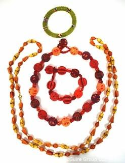 Two Beaded Necklaces and Two Beaded Bracelets