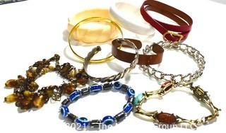 Group of Bangle Bracelets.