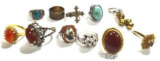 Group of Costume Jewelry Rings.