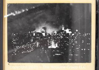 """Framed Under Glass Black & White Photograph of New York City Entitled """"While a Baby Cries"""" Signed and Numbered by Artist William Lawrence, 1969. Measures 12"""" x 15""""."""