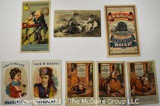 Eight (8) Antique Victorian Trade Cards.