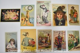 Ten (10) Antique Victorian Trade Cards.