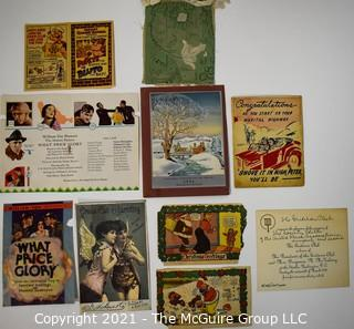 Group of Vintage Ephemera Including an Instant Quaker Oatmeal - Popeye the Quaker Man vs. Bluto the Bad!