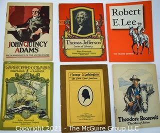 Six (6) Vintage Booklets Published by John Hancock Life Insurance on Presidents.
