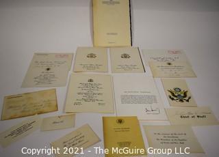 Assortment of U.S. Political Ephemera including White House