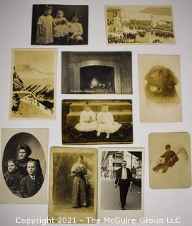 Group of Vintage Black & White Real Photo Postcards.