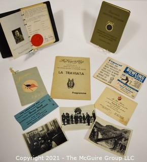 Group of Ephemera Including Diplomats Handbook with Photos and Invitation to the Heigh Ho club