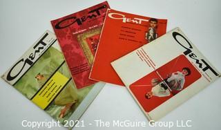 "Four (4) Vintage ""Gent"" Men's Interest Magazines Dated April 1958, August 1957, December 1958, February 1958."