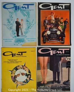 """Four (4) 1950's Vintage """"Gent"""" Men's Interest Magazines"""