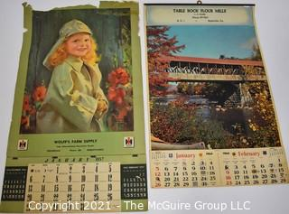 Two (2) 1957 & 1964 Promotional Advertising Calendars.