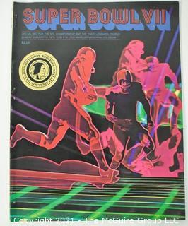 1973 Super Bowl VII Program (Miami Dolphins vs. Washington Redskins)