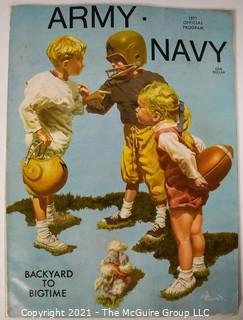 Vintage Souvenir Army v. Navy Football Program 1971 with Cover Art by Gib Crockett.